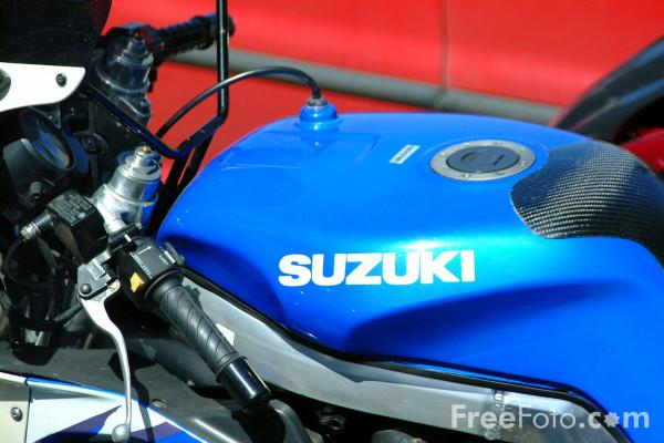 Picture of Suzuki Motorcycle - Free Pictures - FreeFoto.com