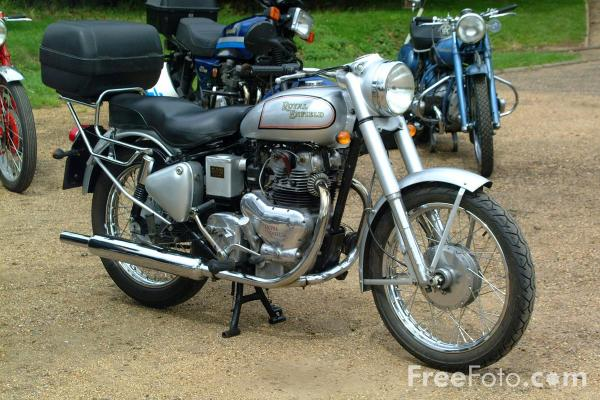 Picture of Royal Enfield Motorbike - Free Pictures - FreeFoto.com