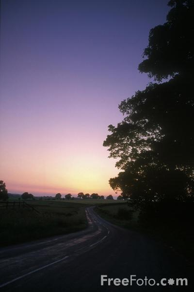 Picture of Country Lane at Sunset - Free Pictures - FreeFoto.com