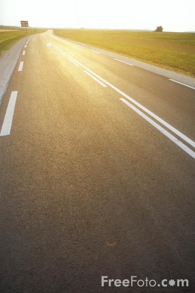 Picture of Road at Sunset - Free Pictures - FreeFoto.com