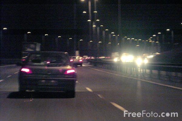 Picture of Driving on a Motorway at night - Free Pictures - FreeFoto.com