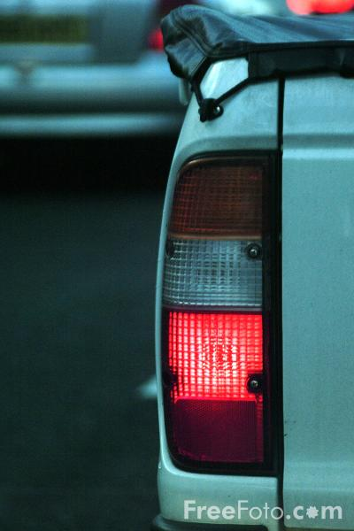 Picture of Red Brake Light - Free Pictures - FreeFoto.com