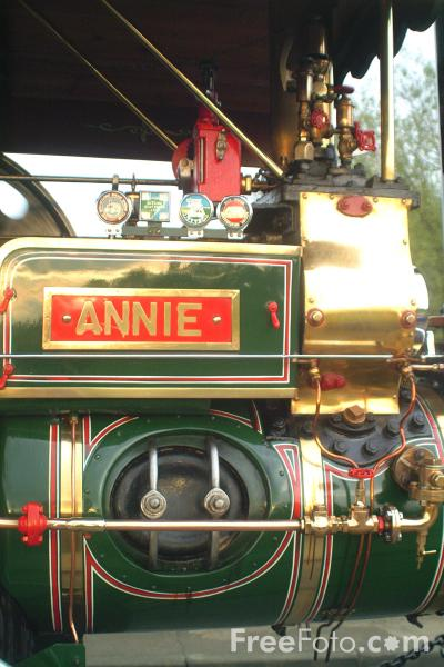 Picture of 1925 built Fowler Steam Roller Annie SA 7685 - Free Pictures - FreeFoto.com