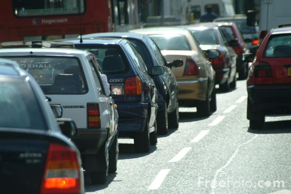 Picture of Traffic Jam, Cardiff, Wales - Free Pictures - FreeFoto.com