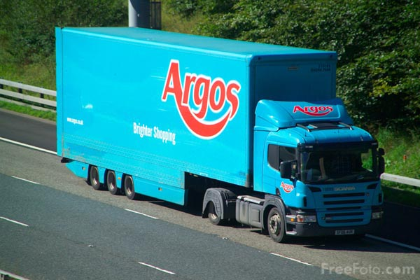 Picture of Argos Articulated Lorry - Free Pictures - FreeFoto.com