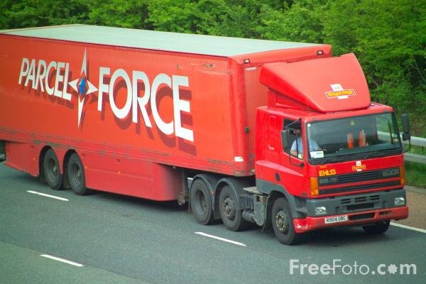 Picture of Parcel Force Truck - Free Pictures - FreeFoto.com
