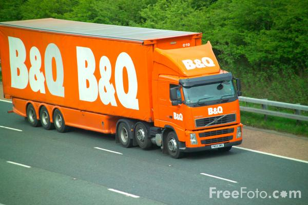 Picture of B & Q Truck - Free Pictures - FreeFoto.com