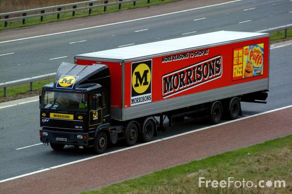 Picture of Morrisons Truck - Free Pictures - FreeFoto.com