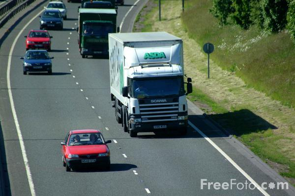 Picture of Asda Lorry - Free Pictures - FreeFoto.com