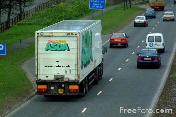 Picture of Asda Truck - Free Pictures - FreeFoto.com