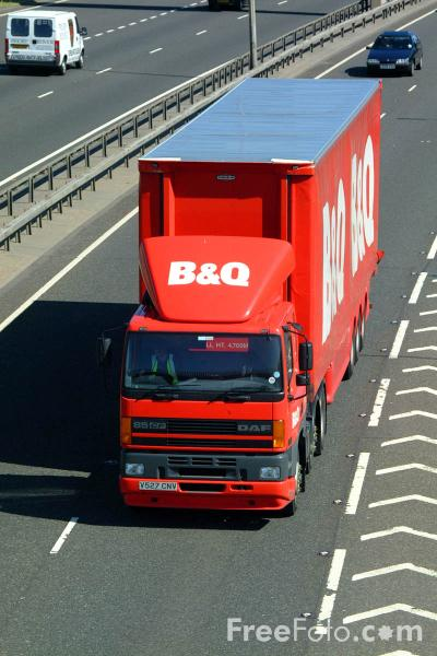 Picture of B & Q Lorry - Free Pictures - FreeFoto.com