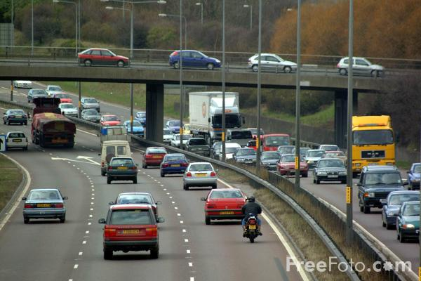 Picture of Rush hour on the A1 Gateshead Western Bypass - Free Pictures - FreeFoto.com