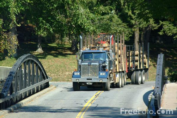 Picture of American Lumber Truck - Free Pictures - FreeFoto.com