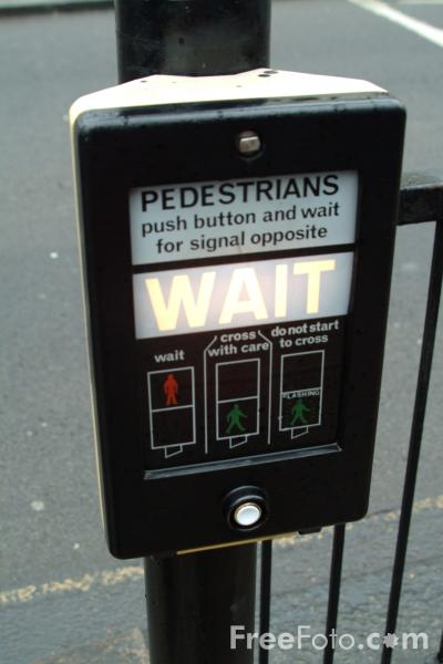 Picture of Pedestrian Crossing Button - Free Pictures - FreeFoto.com