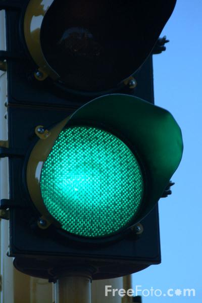 Picture of Green Traffic Lights - Free Pictures - FreeFoto.com