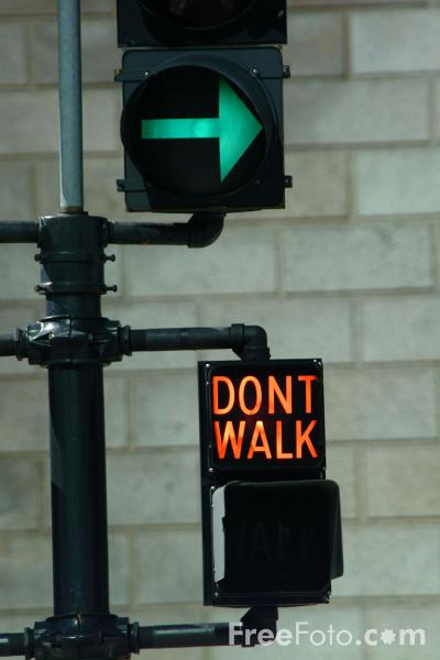 Picture of Dont Walk Sign - Free Pictures - FreeFoto.com