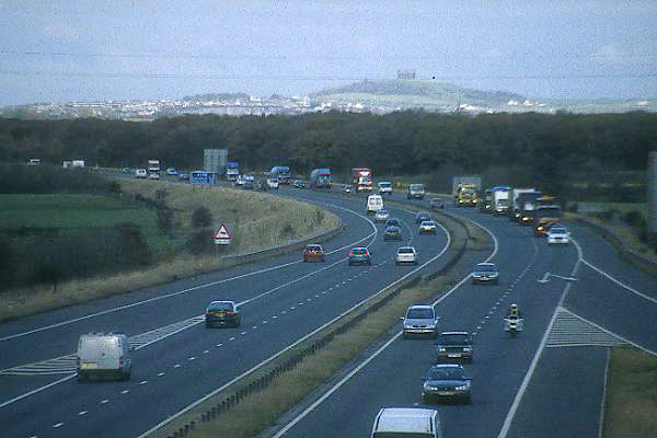 Picture of Fuel Protestors on the A1M, County Durham - Free Pictures - FreeFoto.com