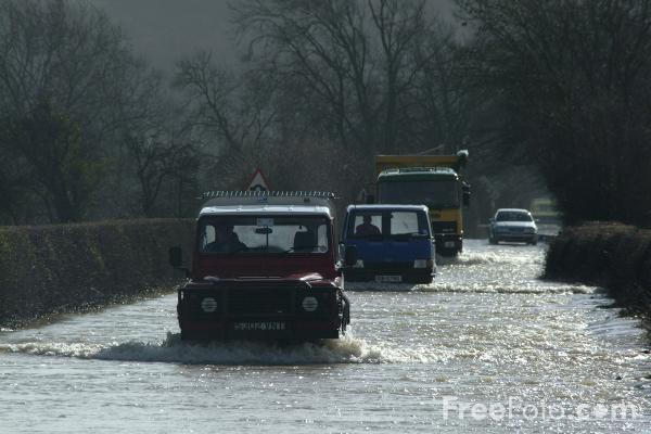 Picture of Flooded Road - Free Pictures - FreeFoto.com
