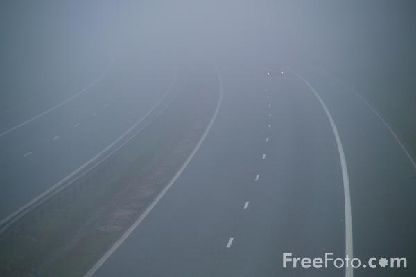 Picture of Road in Fog - Free Pictures - FreeFoto.com