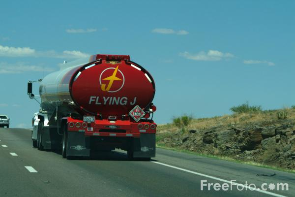 Picture of Flying J Gasoline Tanker - Free Pictures - FreeFoto.com