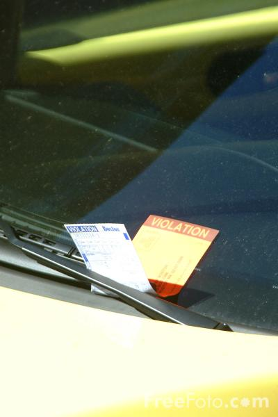 Picture of Parking Ticket - Free Pictures - FreeFoto.com
