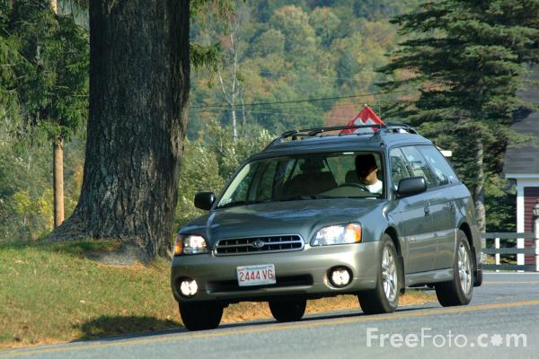 Picture of Automobile, Country Road, Vermont - Free Pictures - FreeFoto.com