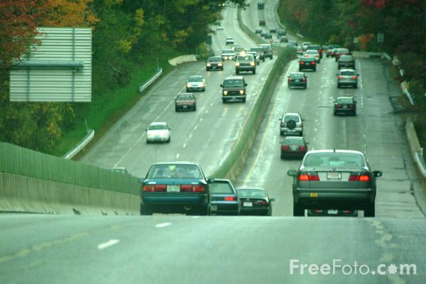 Picture of Dual-carriageway, Massachusetts - Free Pictures - FreeFoto.com