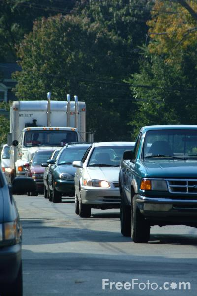 Picture of Traffic Jam, Lexington, Massachusetts - Free Pictures - FreeFoto.com
