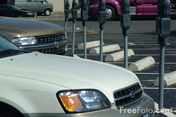 Picture of Parked Cars - Free Pictures - FreeFoto.com