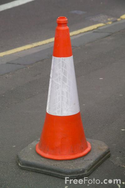 Picture of Traffic Cones - Free Pictures - FreeFoto.com
