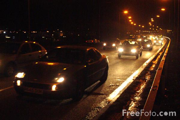 Picture of Road Traffic at night - Free Pictures - FreeFoto.com