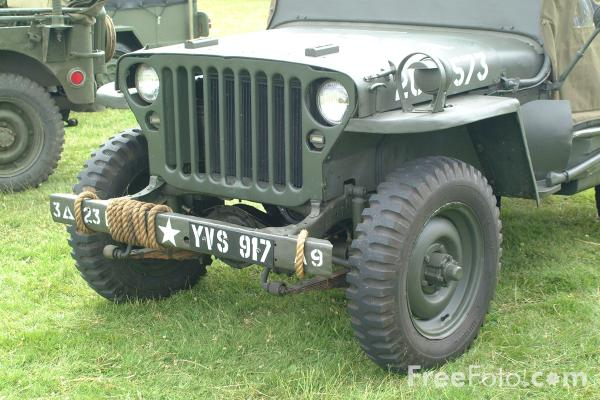 Picture of U.S. Army Willys Jeep - Free Pictures - FreeFoto.com