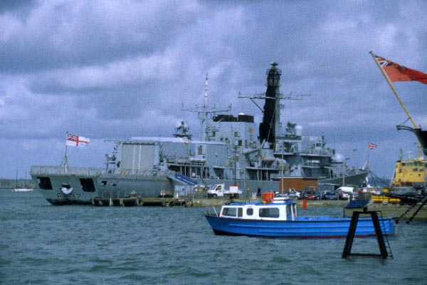 Picture of HMS Illustrious - Invincible Class aircraft carrier, Portsmouth - Free Pictures - FreeFoto.com