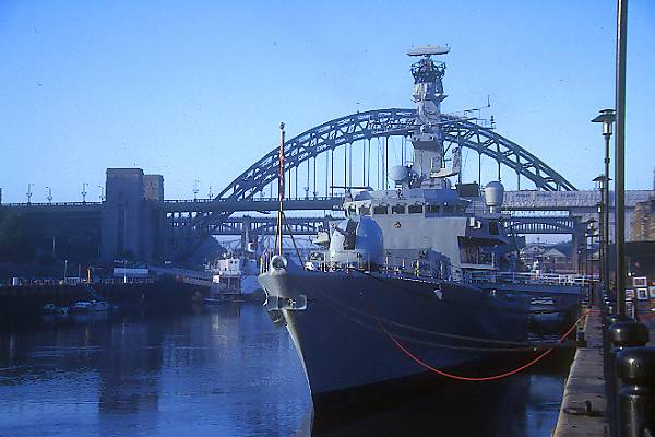 Picture of Type 23 Frigate HMS Richmond, the last warship to sail up the River Tyne to Newcastle Quayside. - Free Pictures - FreeFoto.com