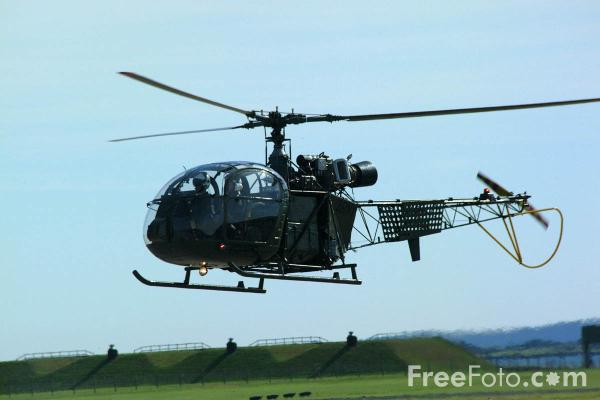 Picture of Sud-Est SE.3130 Alouette AH.2 XR379 Helicopter - RAF Leuchars Airshow - Free Pictures - FreeFoto.com