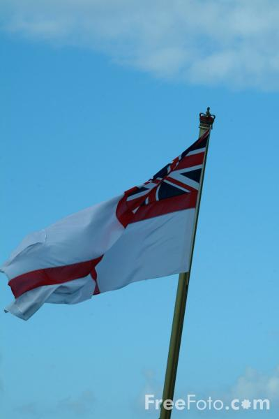 Picture of The White Ensign - Free Pictures - FreeFoto.com
