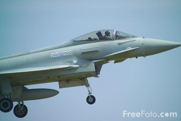 Picture of RAF Eurofighter Typhoon - Free Pictures - FreeFoto.com