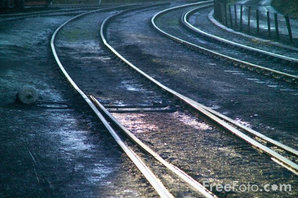 Picture of Railway Track & Points - Free Pictures - FreeFoto.com