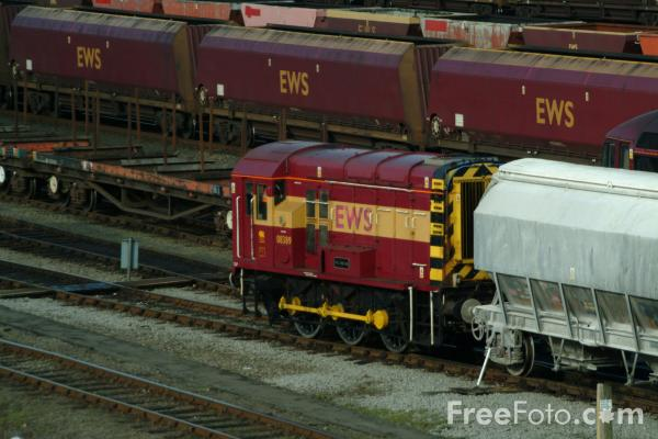 Picture of EWS Class 08 shunter 08 389 at Tees Yard - Free Pictures - FreeFoto.com