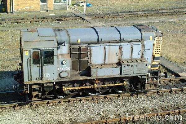 Picture of Class 09 09 023 shunts Tyne Yard - Free Pictures - FreeFoto.com