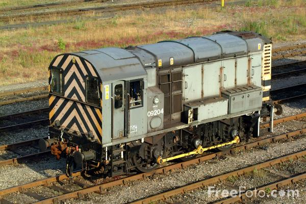 Picture of Class 09 09 204 shunts Tyne Yard - Free Pictures - FreeFoto.com