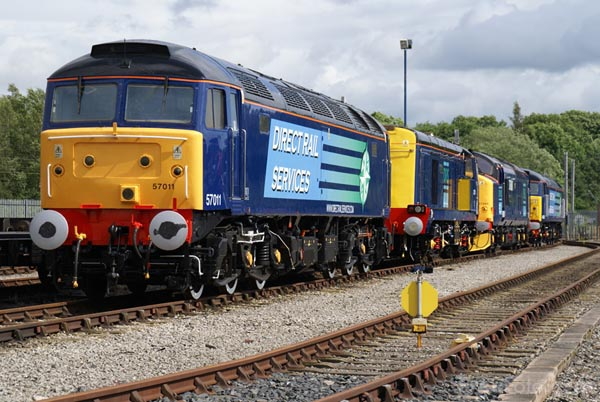 Picture of Direct Rail Services DRS Class 57 57011 - Free Pictures - FreeFoto.com