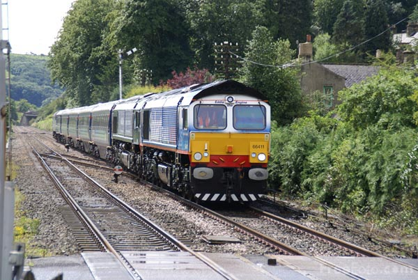 Picture of Direct Rail Services DRS Charter Train at Haydon Bridge, - Free Pictures - FreeFoto.com