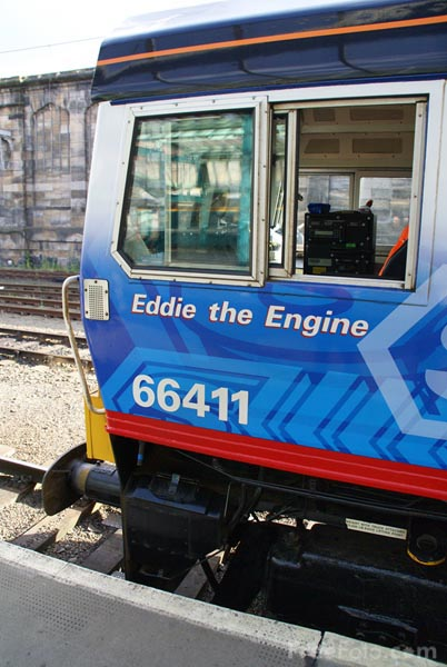 Picture of Direct Rail Services DRS Class 66 66411 Eddie the engine - Free Pictures - FreeFoto.com