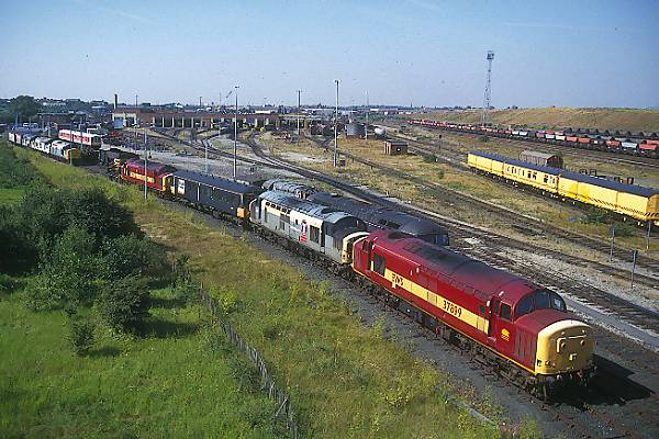 Picture of Class 37 at Thornaby Yard - Free Pictures - FreeFoto.com