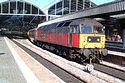 Image Ref: 23-13-1 - EWS Brush Class 47 47780 on a charter at Newcastle station, Viewed 8133 times