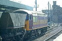Image Ref: 23-14-11 - EWS Class 56087 Port of Hull on a MGR train at Newcastle, Viewed 5562 times