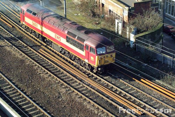 Picture of EWS Class 56 56011 at Newcastle - Free Pictures - FreeFoto.com