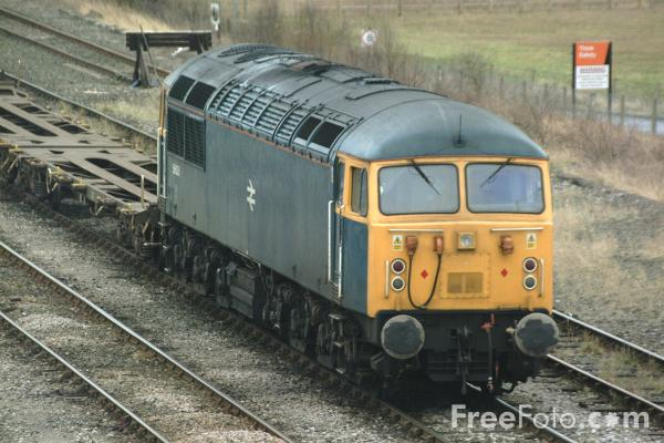 Picture of EWS Class 56 56006 in BR Blue livery at Tyne Yard - One of the first batch of 30 Romanian built class 56 Locomotives - Free Pictures - FreeFoto.com