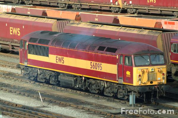 Picture of Brush Class 56 56095 at Tees Yard - Free Pictures - FreeFoto.com